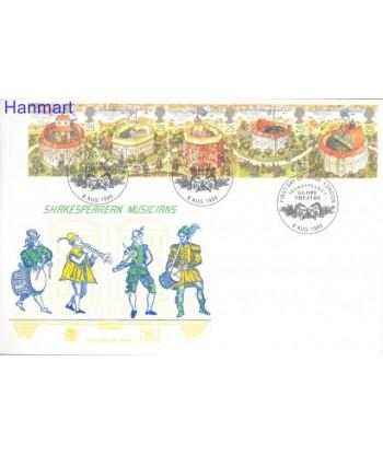 Wielka Brytania 1995 Mi 1580-1584 FDC