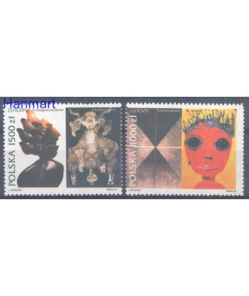 Polska 1993 Mi 3445-3446 Czyste **