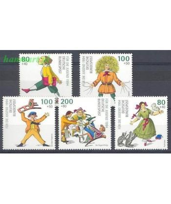 Niemcy 1994 Mi 1726-1730 Czyste **