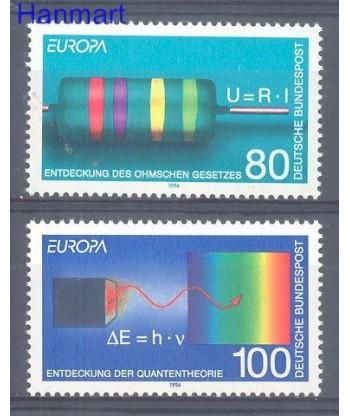 Niemcy 1994 Mi 1732-1733 Czyste **
