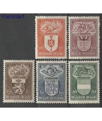 Belgia 1947 Mi 798-802 Czyste **