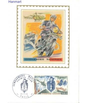 Francja 1970 Mi 1695 Karta Max