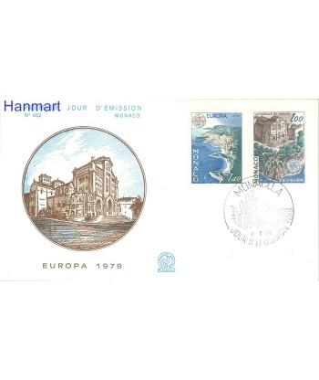 Monako 1978 Mi 1319-1320b FDC