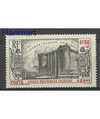 Francuska Afryka Równikowa 1939 Mi 96 Z podlepka *