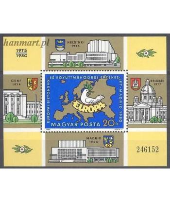 Węgry 1980 Mi bl 147 Czyste **