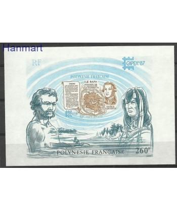 Polinezja Francuska 1987 Mi bl 13 Czyste **
