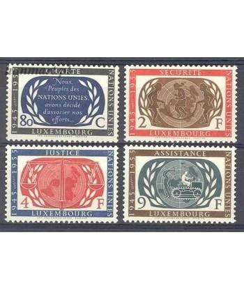 Luksemburg 1955 Mi 537-540 Z podlepka *