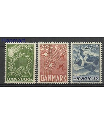 Dania 1947 Mi 295-297 Czyste **