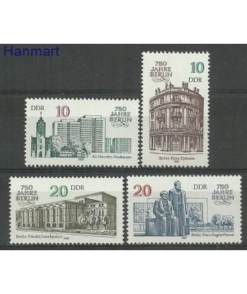 Niemiecka Republika Demokratyczna / DDR 1987 Mi 3075-3078 Czyste **