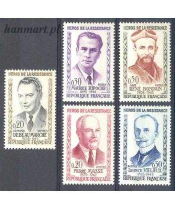 Francja 1960 Mi 1296-1300 Czyste **