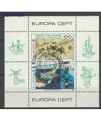 Cypr Turecki 1983 Mi bl 4 Stemplowane