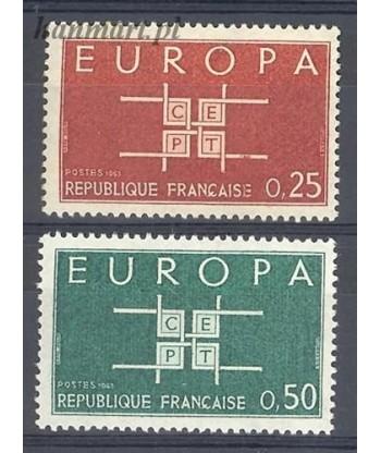 Francja 1963 Mi 1450-1451 Czyste **