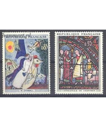 Francja 1963 Mi 1452-1453 Czyste **