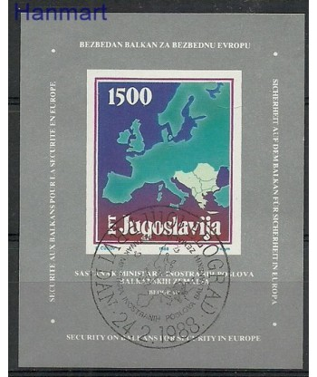 Jugosławia 1988 Mi bl 31 Stemplowane
