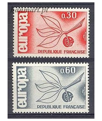 Francja 1965 Mi 1521-1522 Czyste **