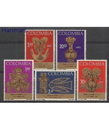 Kolumbia 1967 Mi 1111-1115 Czyste **