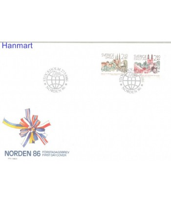Szwecja 1986 Mi 1395-1396 FDC