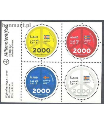 Wyspy Alandzkie 2000 Mi bl 4 Czyste **
