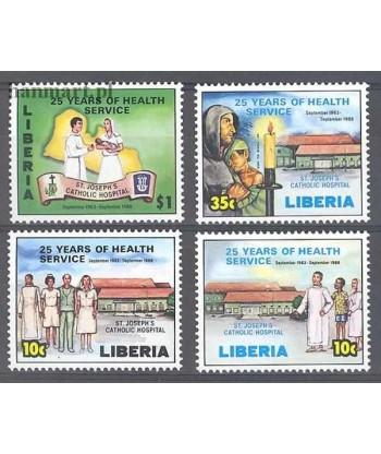 Liberia 1988 Mi 1420-1423 Czyste **