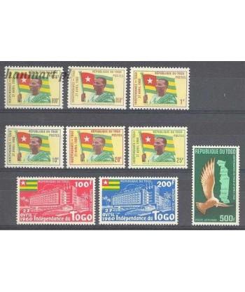 Togo 1960 Mi 285-293 Czyste **