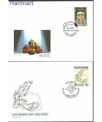 Słowenia 1994 Mi 99-100 FDC