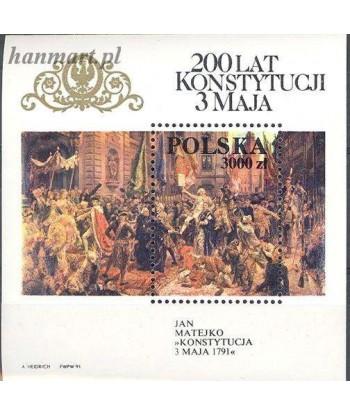Polska 1991 Mi bl 112 Czyste **