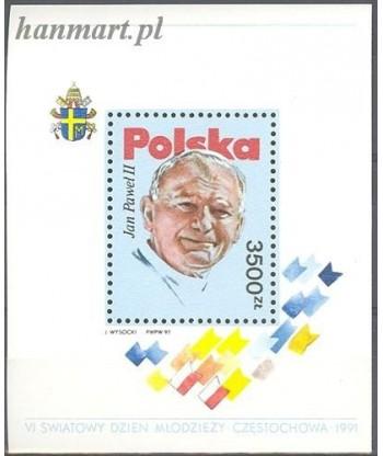Polska 1991 Mi bl 113 Czyste **