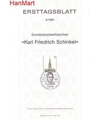 Berlin Niemcy 1981(4) Mi  FDC