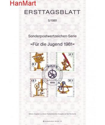 Berlin Niemcy 1981(5) Mi  FDC