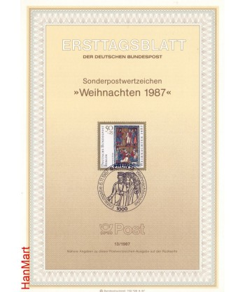 Berlin Niemcy 1987(13) Mi  FDC