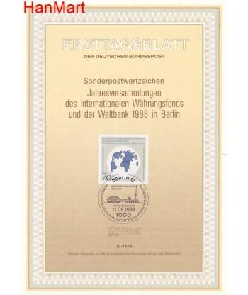 Berlin Niemcy 1988(12) Mi  FDC