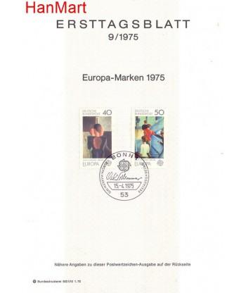 Niemcy 1975(9) Mi  Pierwszy dzień wydania