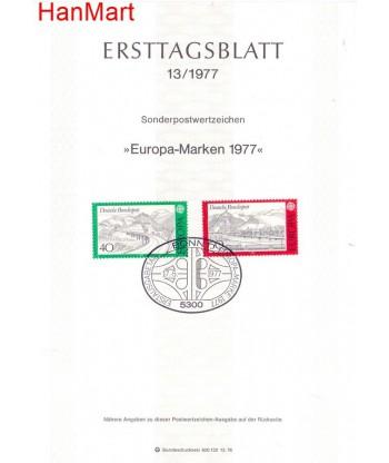 Niemcy 1977(13) Mi  Pierwszy dzień wydania