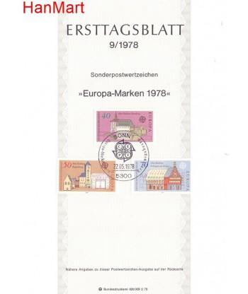 Niemcy 1978(9) Mi  Pierwszy dzień wydania