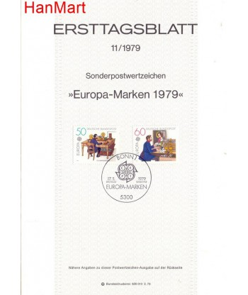 Niemcy 1979(11) Mi  Pierwszy dzień wydania