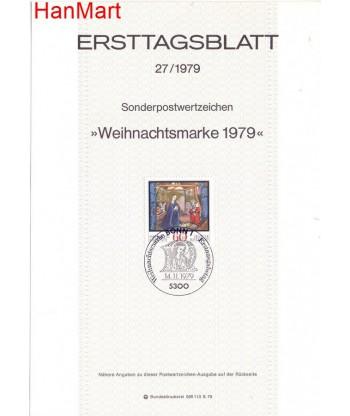 Niemcy 1979(27) Mi  Pierwszy dzień wydania
