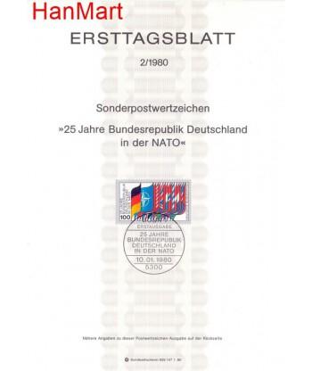 Niemcy 1980(2) Mi  Pierwszy dzień wydania