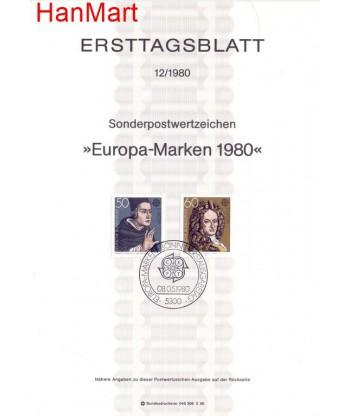 Niemcy 1980(9) Mi  Pierwszy dzień wydania