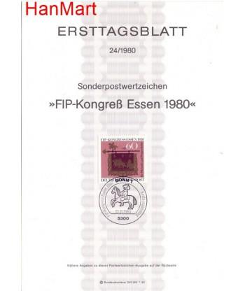 Niemcy 1980(24) Mi  Pierwszy dzień wydania
