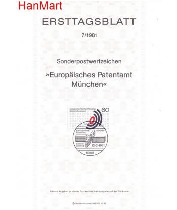 Niemcy 1981(7) Mi  Pierwszy dzień wydania