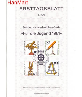 Niemcy 1981(9) Mi  Pierwszy dzień wydania