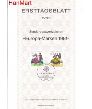 Niemcy 1981(11) Mi  Pierwszy dzień wydania