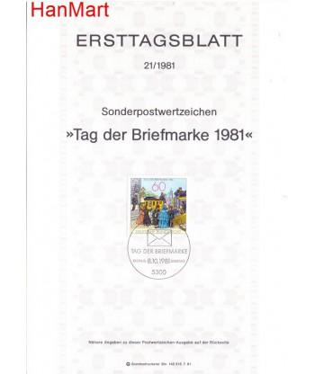 Niemcy 1981(21) Mi  Pierwszy dzień wydania
