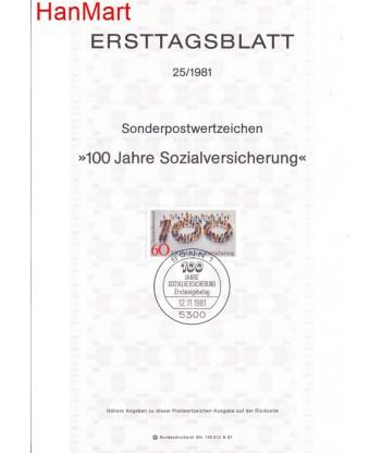 Niemcy 1981(25) Mi  Pierwszy dzień wydania