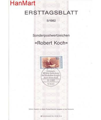 Niemcy 1982(5) Mi  Pierwszy dzień wydania