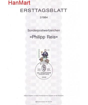 Niemcy 1984(1) Mi  Pierwszy dzień wydania