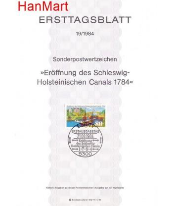 Niemcy 1984(19) Mi  Pierwszy dzień wydania