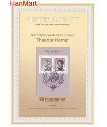 Niemcy 1991(37) Mi  Pierwszy dzień wydania