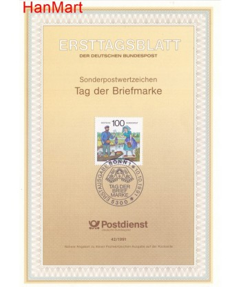 Niemcy 1991(42) Mi  Pierwszy dzień wydania