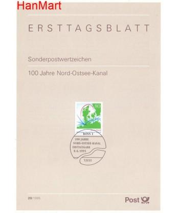 Niemcy 1995(20) Mi  Pierwszy dzień wydania